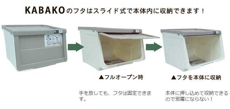 KABAKOのふたはスライド式で本体内で収納できます!