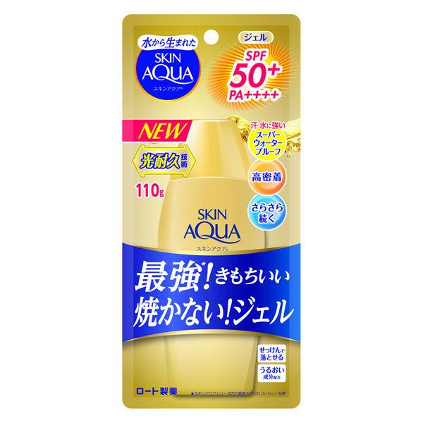 ロート スキンアクア スーパーモイスチャー ジェルゴールド SPF50+/PA++++ 110g