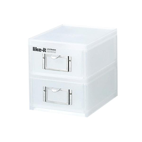 整理収納ボックス A6ファイルユニット 2段
