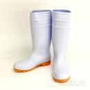 安全耐油長靴ロング 鋼製先芯 ホワイト L 25.5〜26cm