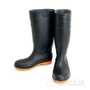 安全耐油長靴ロング 鋼製先芯 ブラック L 25.5〜26cm
