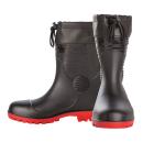 迷彩安全長靴ショートフード付 ブラック LL SZ−630