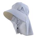 のらスタイル ふわっと涼しい帽 ラメストライプ