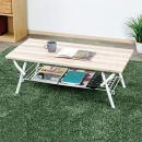 ヴィンテージ調フロアテーブル ナチュラル 約90×45×高33cm