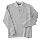 ホシ服装 245 裏起毛ポロシャツ 2.杢グレー L 長袖