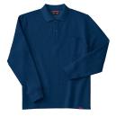 ホシ服装 245 裏起毛ポロシャツ 6.ネイビー L 長袖