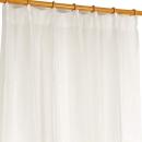 レースカーテン リンクル 100×108cm ホワイト 2枚組