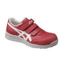 アシックス 作業靴 ウィンジョブ CP301 2301 プライムレッド×ホワイト 26.5cm