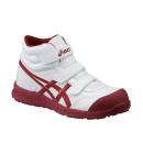 アシックス 作業靴 ウィンジョブ CP302 0126 ホワイト×バーガンディ 26.5cm