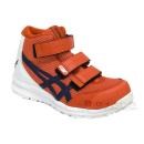 アシックス 作業靴 ウィンジョブ CP203 チェリートマト×インディゴブルー 26.5cm