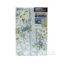 京都西川 掛けふとんカバー 花柄 シングルロング ブルー