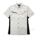 和玄屋 ストレッチワークシャツ 半袖 ネイビー L