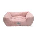 イエモア ラビットファー調 スクエア型ベッド L ピンク