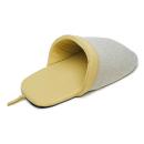イエモア ヘリンボーン柄 スリッパ型ベッド ベージュ
