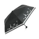 ブラックコーティング折りたたみ傘 パリネコ 50cm