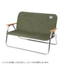 キャプテンスタッグ アルミ 背付ベンチ用 着せかえカバー カーキ UC−1655