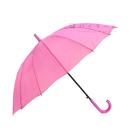 婦人 ジャンプ傘 16本骨 58cm ピンク