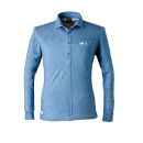 アイズフロンティア #707P ストレッチドライ長袖ポロシャツ ヴィンテージブルー L