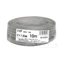 愛知電線 FFVケーブル 2×1.6mm 10m巻 灰色