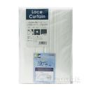 形状記憶・遮熱 レース ソフトカーテン 100×176 2枚組 ホワイト