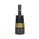 漆黒 ビットソケット ショートタイプ 17mm 12角