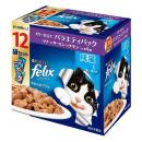 フィリックス やわらかグリル 成猫1歳から ゼリー仕立て バラエティ (ツナ・サーモン・チキン) 70g×12袋