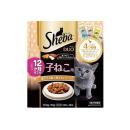 シーバ デュオ 12ヶ月までの子ねこ用 鶏ささみ味と海のセレクション 200g/20g×10袋