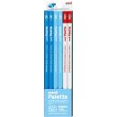 三菱鉛筆 かきかた鉛筆 ユニパレット 2B (パステルブルー) 1ダース 赤鉛筆付 K55632B