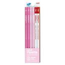 三菱鉛筆 かきかた鉛筆 ユニパレット B (パステルピンク) 1ダース 赤鉛筆付 K5564B