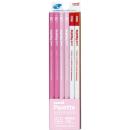 三菱鉛筆 かきかた鉛筆 ユニパレット 2B (パステルピンク) 1ダース 赤鉛筆付 K55642B