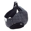 ペティオ アルファッション ハートドット ベストハーネス ブラック 小型犬用 Sサイズ
