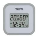 タニタ デジタル温湿度計 グレー TT−558−GY
