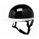 白つば半キャップヘルメット ブラック NT-005