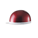 白つば半キャップヘルメット レッド NT-005
