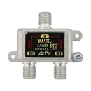 屋内用 ダイカスト 2分配器 全端子電流通過型 SHD2AT