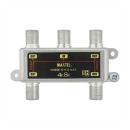 屋内用 ダイカスト 4分配器 全端子電流通過型 SHD4AT