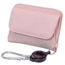 【ネット限定】コンパクト財布リール付 ピンク