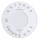 エンペックス セレナ 温・湿度計 ホワイト LV−4303