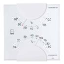 エンペックス エルム 温・湿度計 ホワイト LV−4901