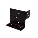 2×4サポート (ツーバイサポート) 柱脚金物 24C−BK 黒塗装 1個