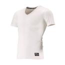 クレーターメッシュ Vネック 半袖シャツ M ホワイト