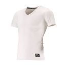 クレーターメッシュ Vネック 半袖シャツ 3L ホワイト
