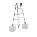 ハセガワ 脚部伸縮式梯子兼用脚立 5段(5尺) RYZ−15b