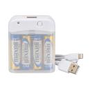 OHM AudioComm 電池式充電器 スマートフォン用 ライトニングコネクタ MAV−LR03L−W