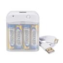 OHM AudioComm 電池式充電器 スマートフォン用 USB Type-C MAV−LR03C−W