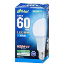 OHM LED電球 E26 60形相当 全方向 昼光色