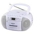 オーム電機 AudioComm CDラジカセ RCD-550Z-W ホワイト