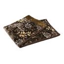 西川 2枚合わせ毛布 リーフ シングル 約140×200cm ブラウン