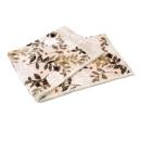 西川 2枚合わせ毛布 リーフ シングル 約140×200cm ベージュ
