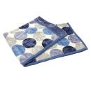 西川 2枚合わせ毛布 ドット シングル 約140×200cm ブルー